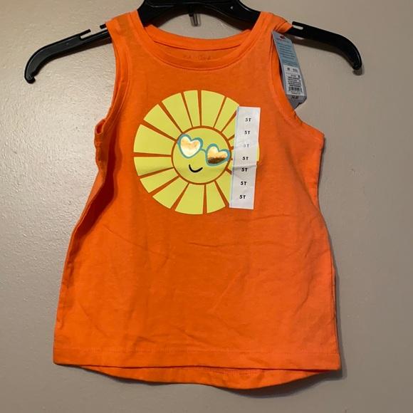 Cat & Jack Orange Sunshine Tank, 5T